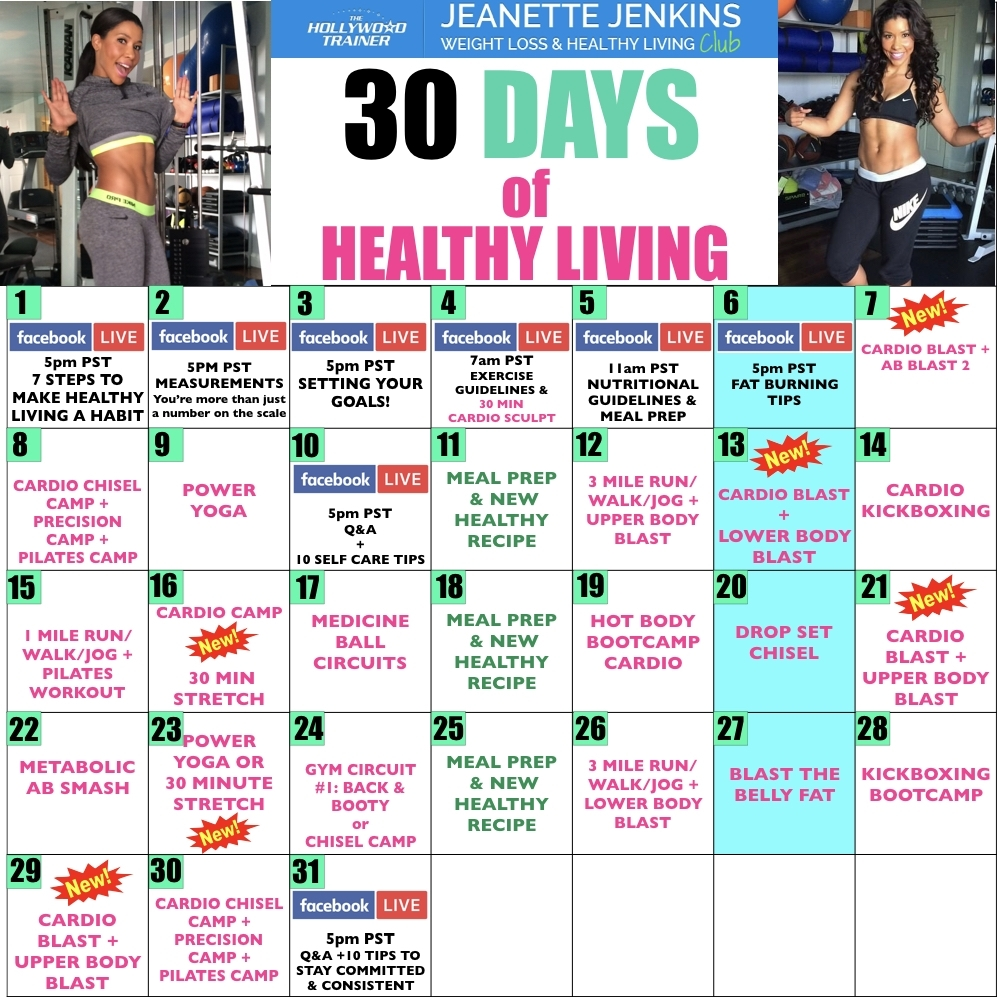 Blog | Jeanette Jenkins | The Hollywood Trainer with regard to 30 Day Inner Thigh Challenge Calendar