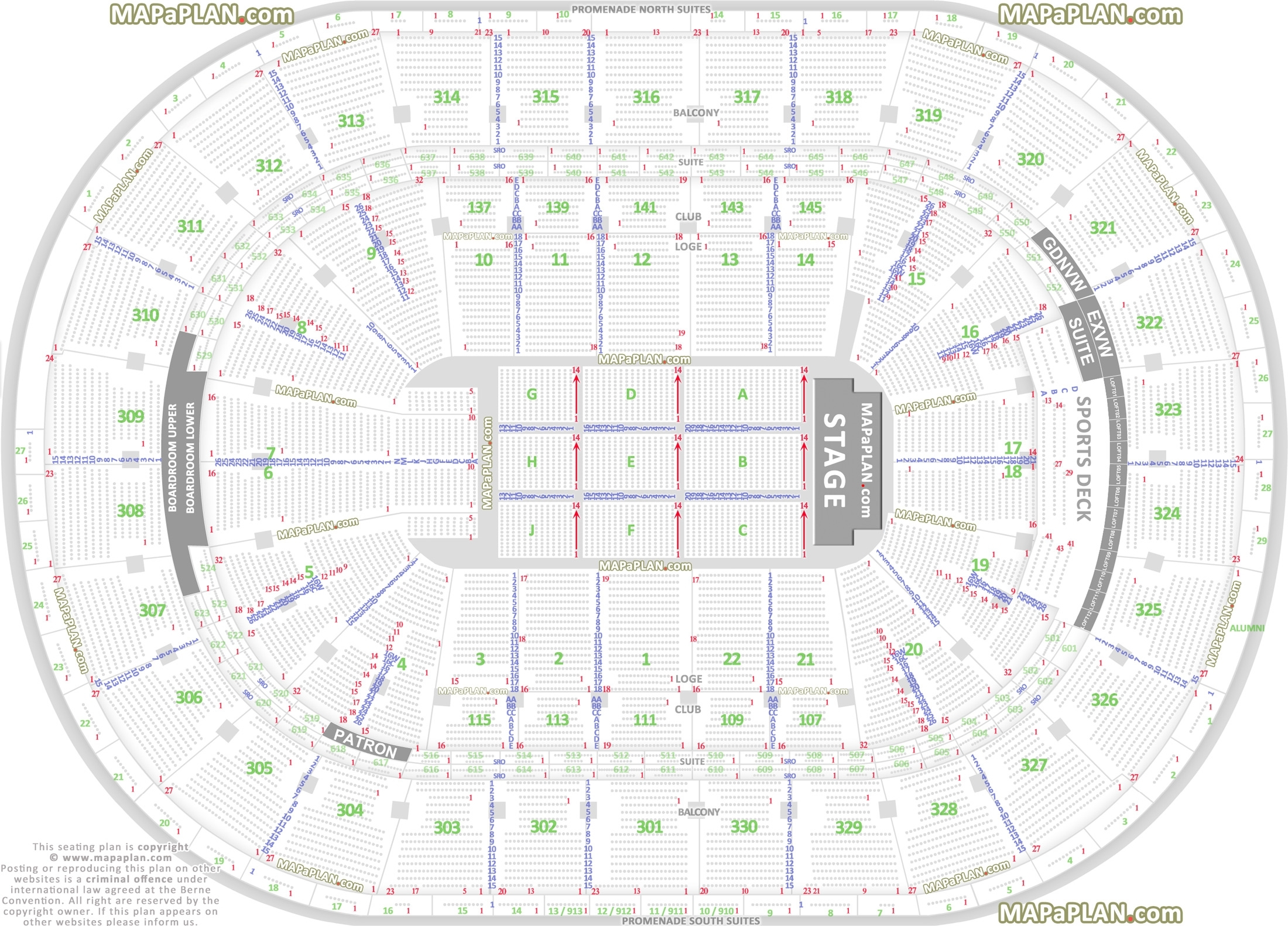 Boston Td Garden Seat Numbers Detailed Seating Plan - Mapaplan regarding Verizon Center Seating Chart Pdf