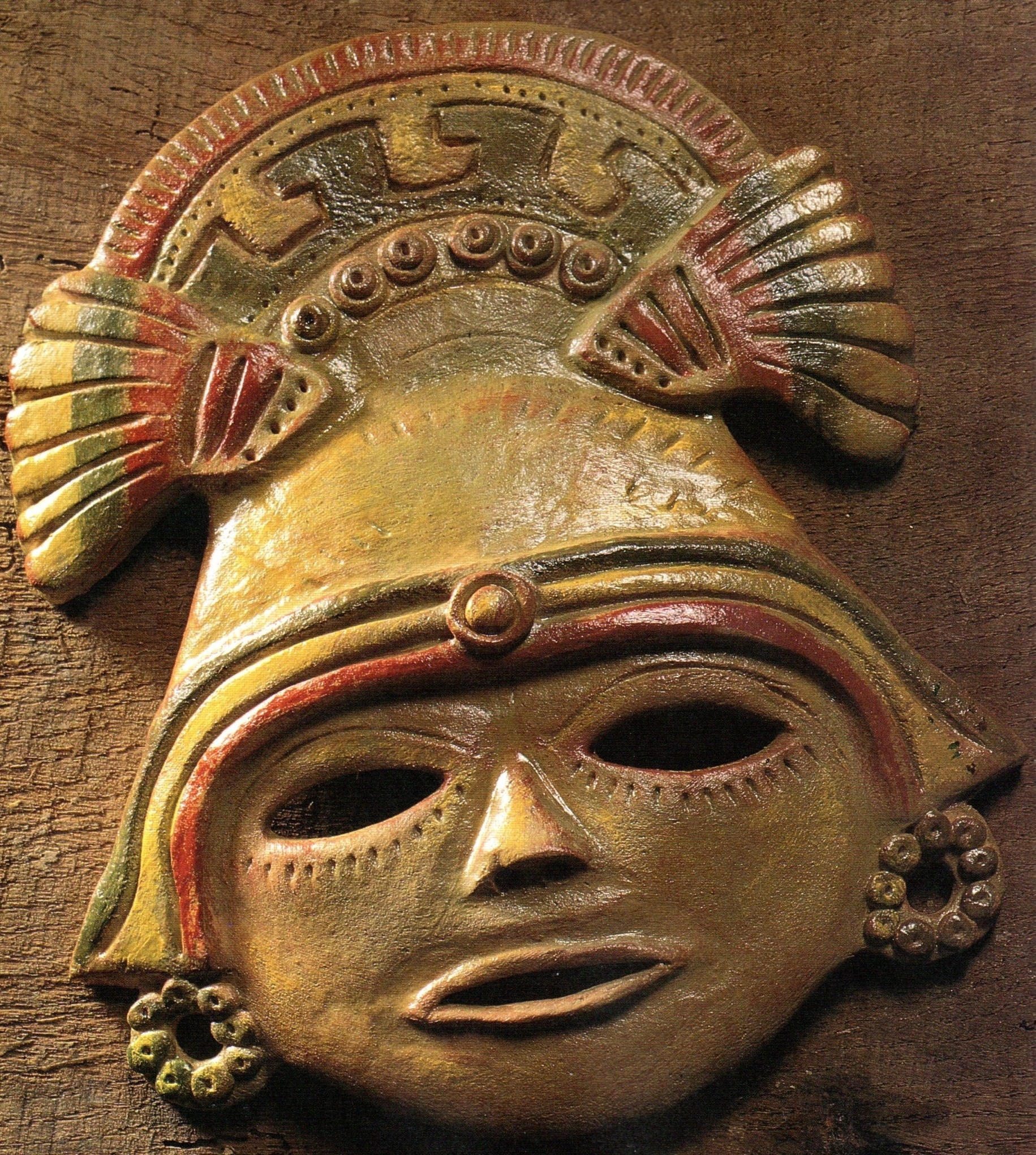 Bread Dough Aztec Mask | Country & Victorian Times in Aztec Masks And Ther Meanings
