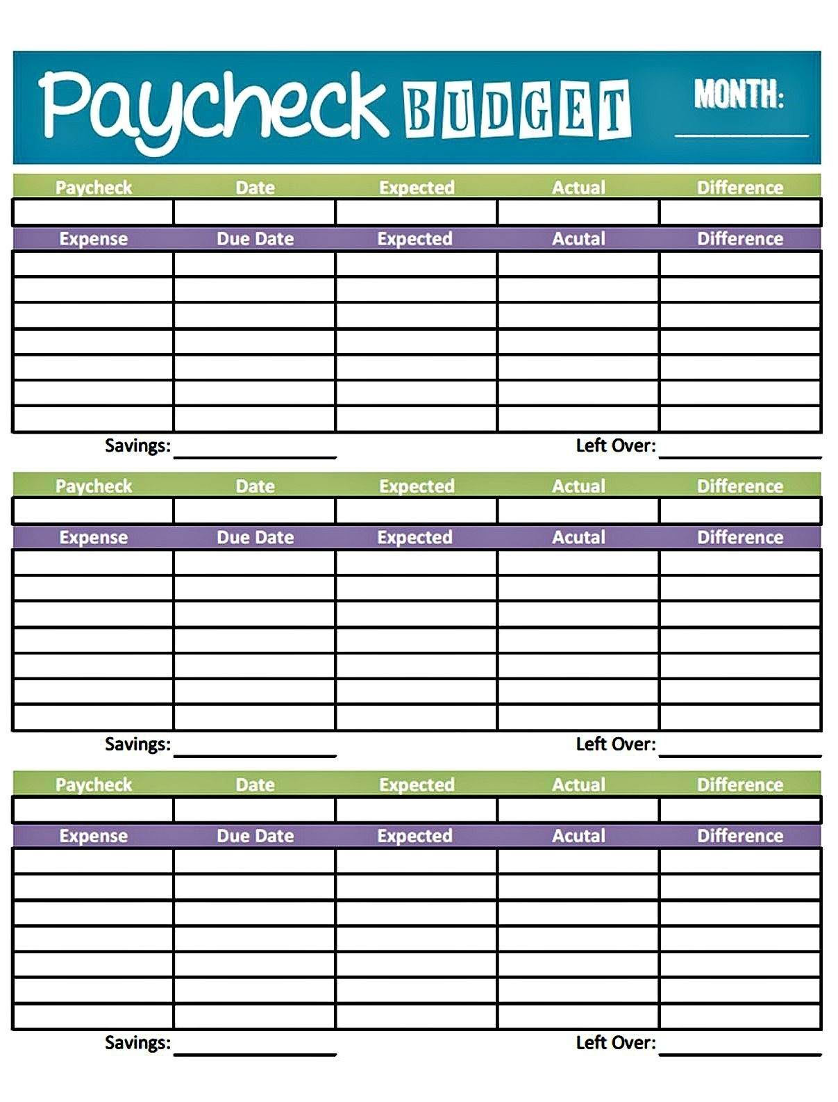 Budget Worksheet Printable | Get Paid Weekly And Charlie Gets Paid for Free Printable Bi-Weekly Bill Organizer