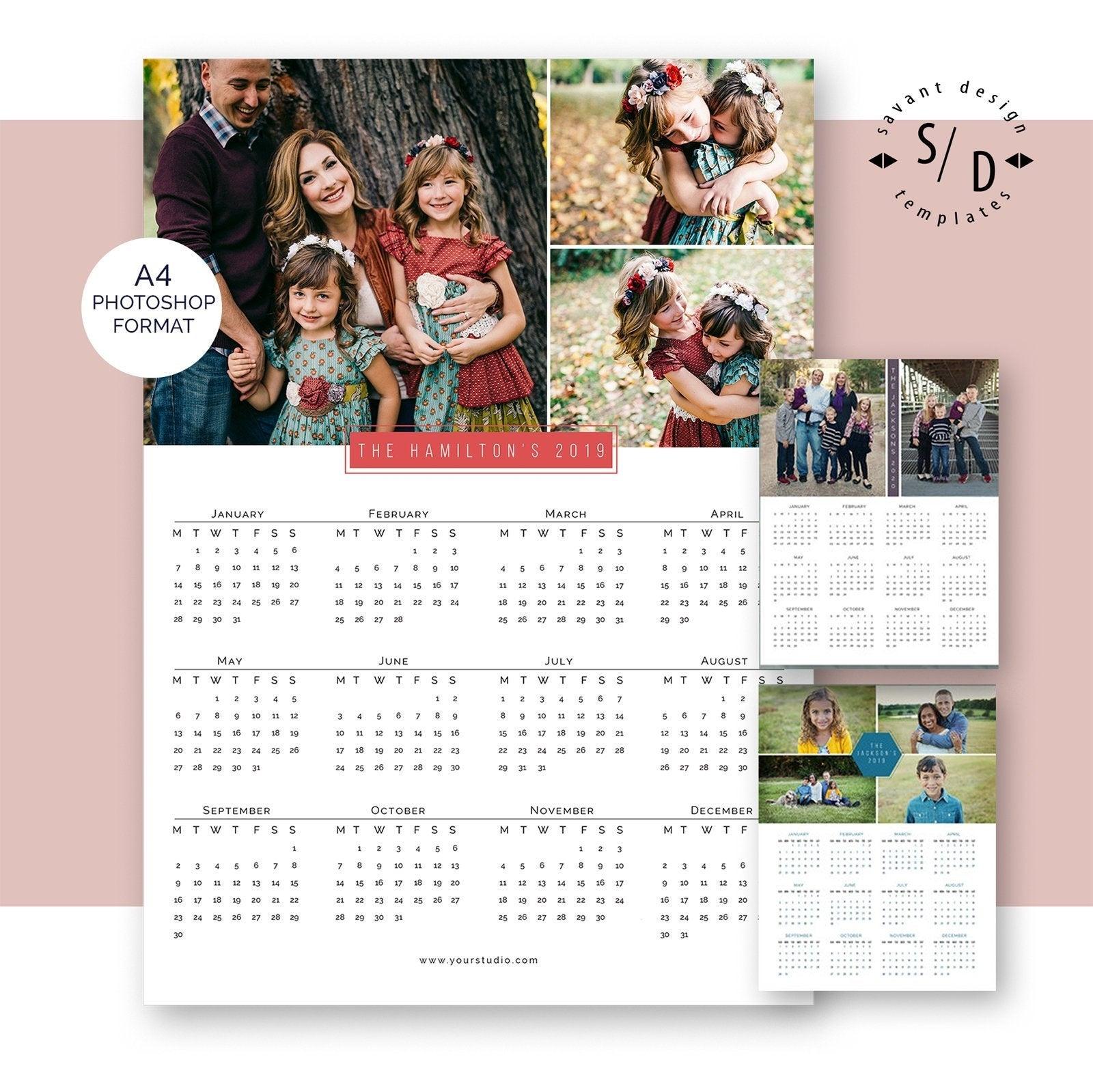 Calendar 2019 2020 A4 Calendar Template Printable Photo | Etsy with 2012 Calendar Sri Lanka With All Holidays