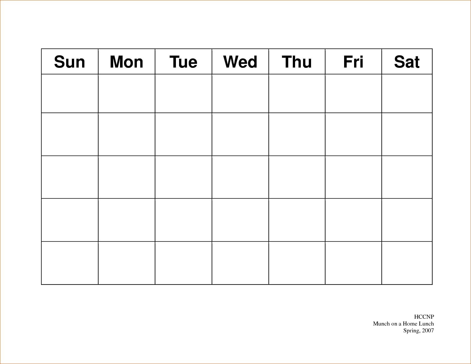 Calendar 5 Day Weekly Calendar Template On 5 Week Calendar Template within Free 5 Day Calendar Template