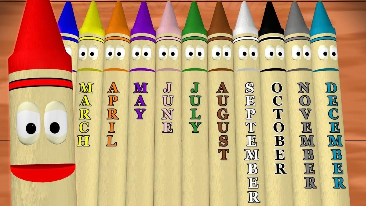 Calendar Crayons Teach Months Of The Year - Youtube regarding Calendar Months Of The Year
