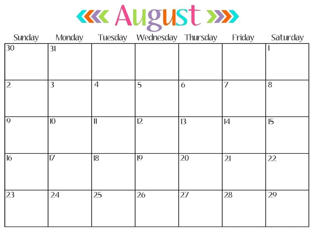 Calendar Month Template - Free Calendar Collection for Calendar By Month Monday To Friday