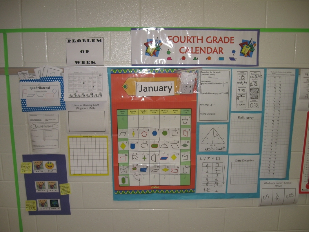 Calendar/number Routines Supplements K-5 - Mrs. Kathy Spruiell At School with Fourth Grade Everyday Math Calendar Wall