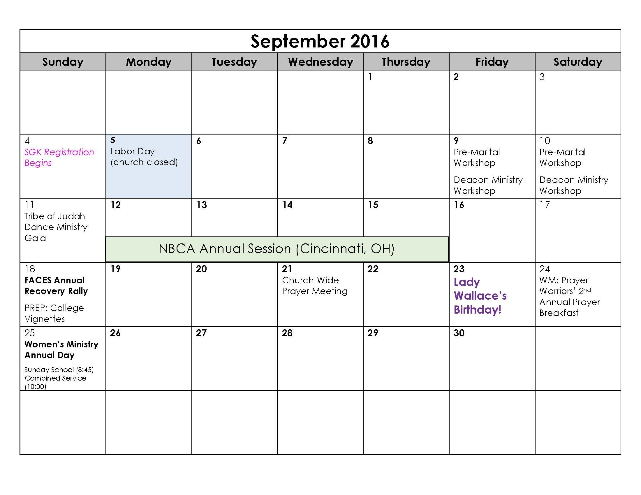Calendar Of September 2016 | September Month | Pinterest | September within Calendar For Women Onth Of September