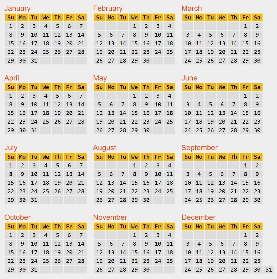 Calendar Reform Needed? with regard to Calendar With All The Years