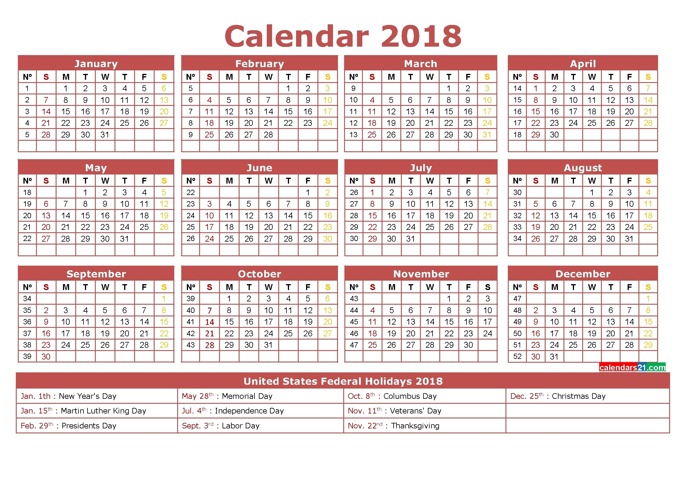 Calendar Template 12 Months One Page • Printable Blank Calendar Template intended for 12 Month Calendar On One Page
