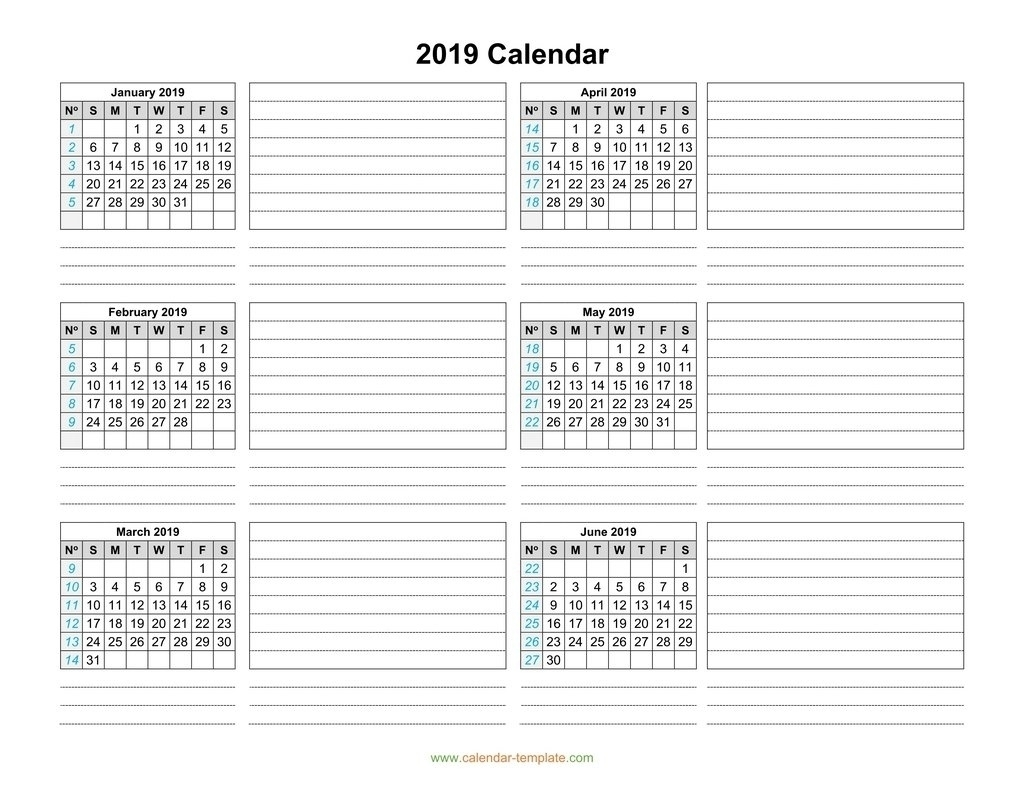 Calendar Template 3 Months Per Page • Printable Blank Calendar Template for Calendar Template 3 Months Per Page