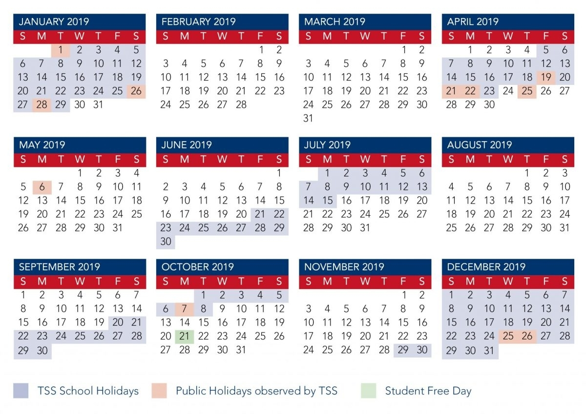 Calendar | The Southport School inside Calender Of Term 1 Events