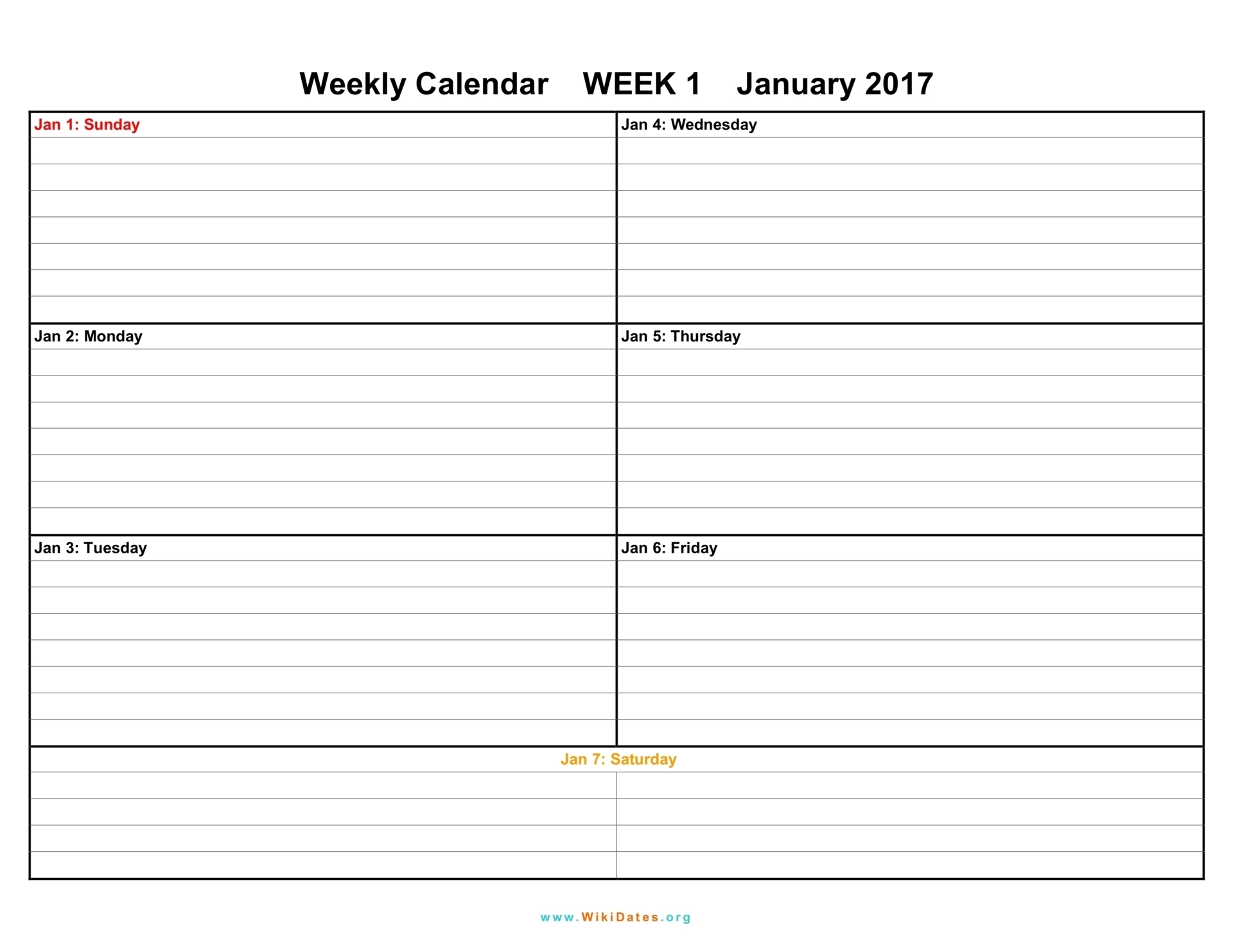 Calendar Weekly Printable - Hashtag Bg for Blank Lined Weekly Printable Calendar