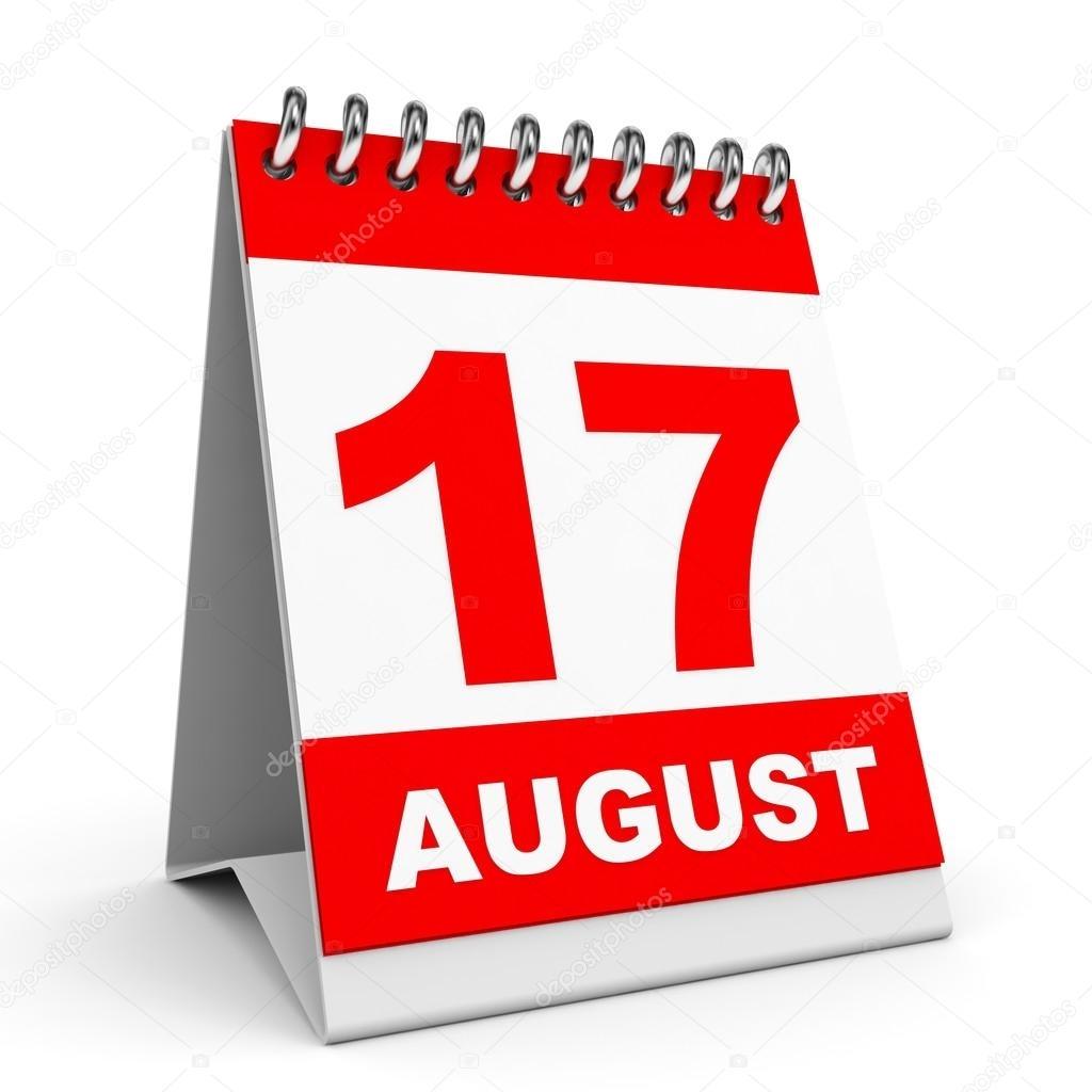 Calendario. 17 De Agosto — Fotos De Stock © Icreative3D #49040573 inside Imagen 17 De Agosto En Calendario