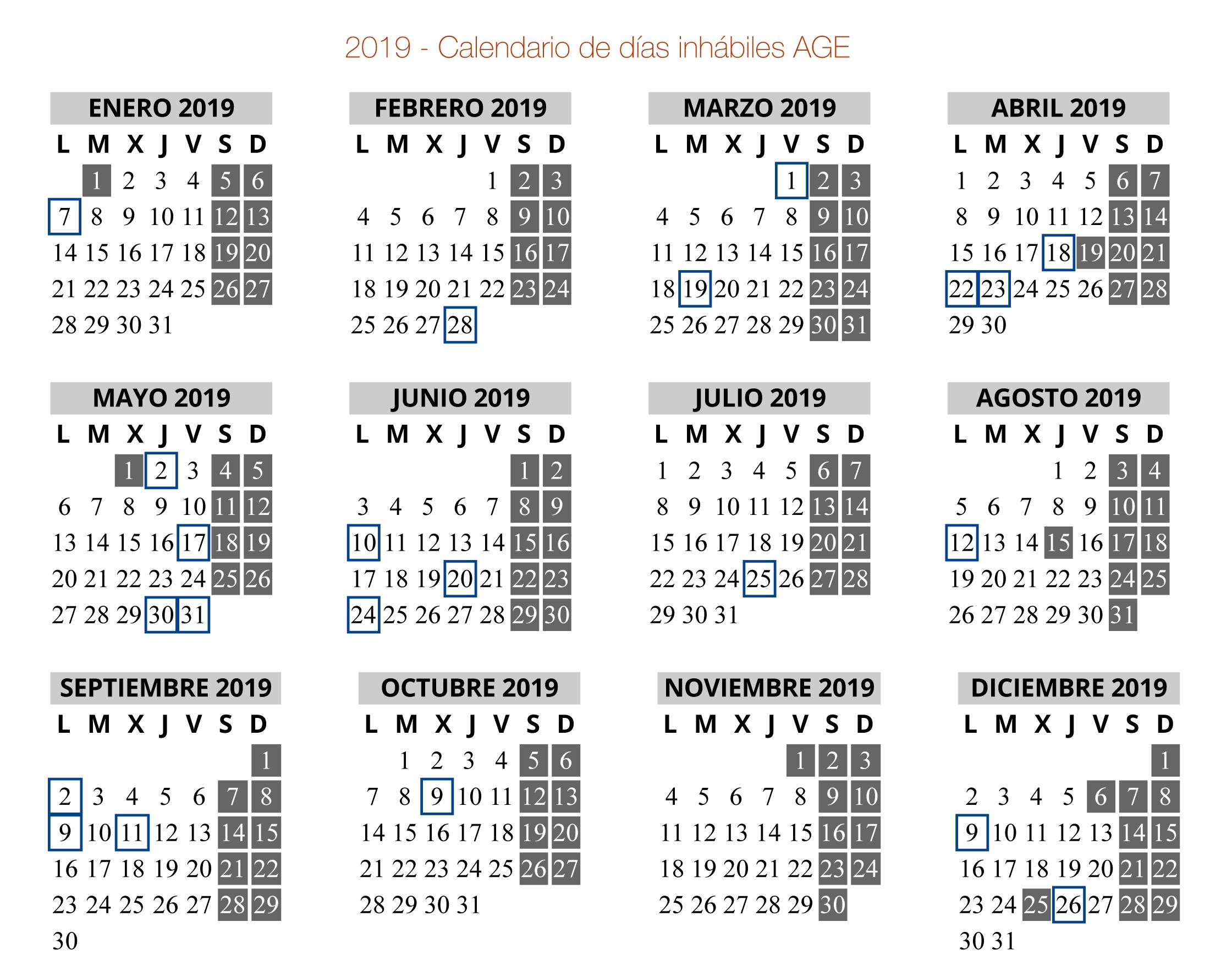 Calendario De Días Inhábiles En El Ámbito De La Administración inside Calendario 2006 Para Imprimir Espaa