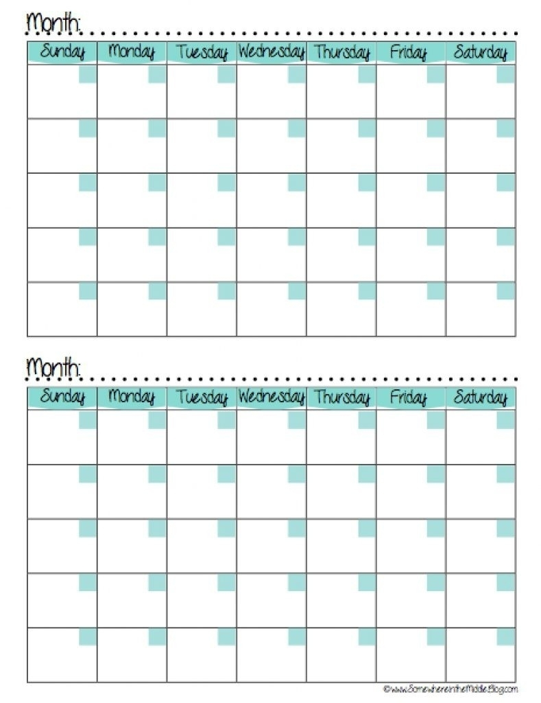 Calendars 2 Months Per Page Seven Photo And Month Calendar Printable with regard to 2 Month Calendar Template Printable