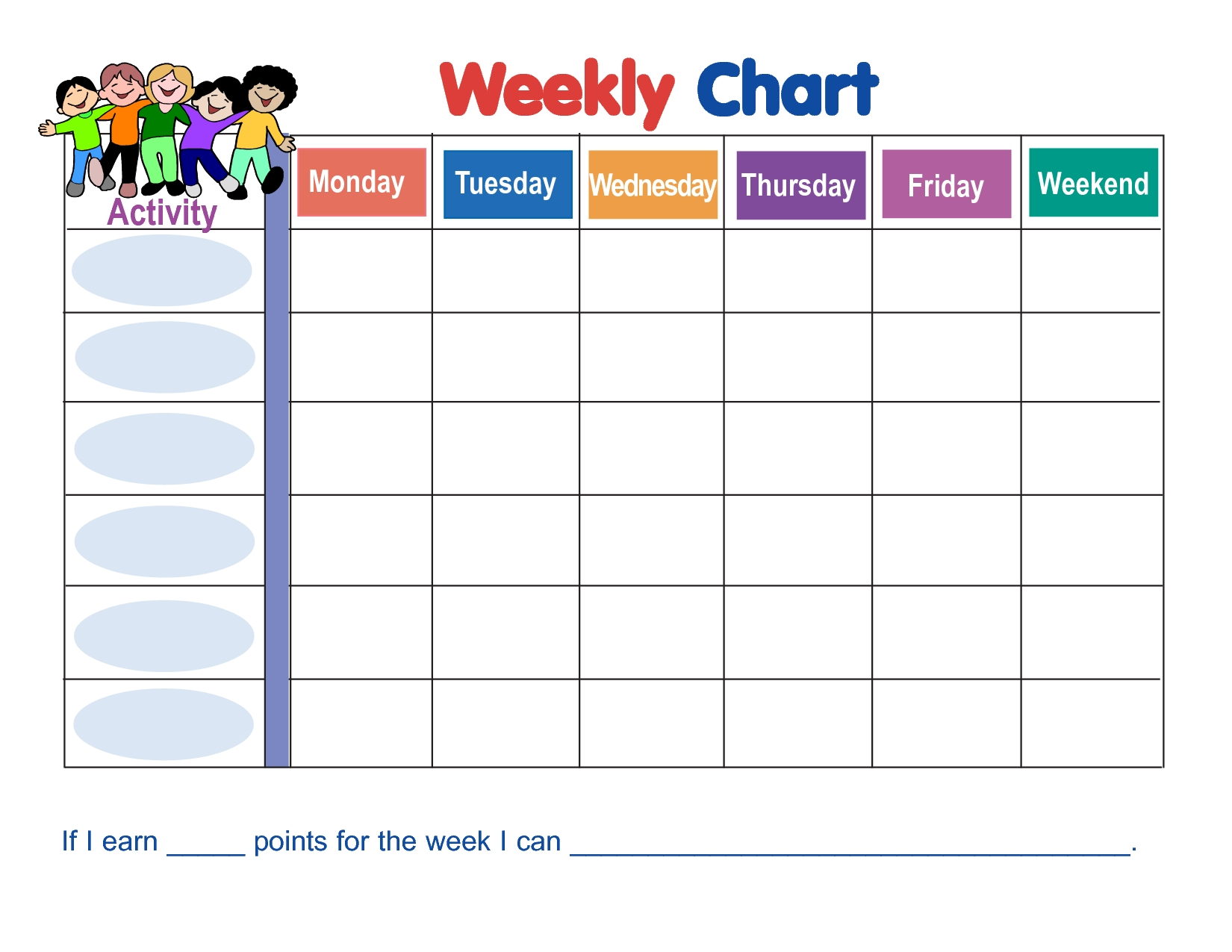Chart Template Category Page 1 - Efoza with regard to Blank Free Printable Star Charts Monday Thru Friday