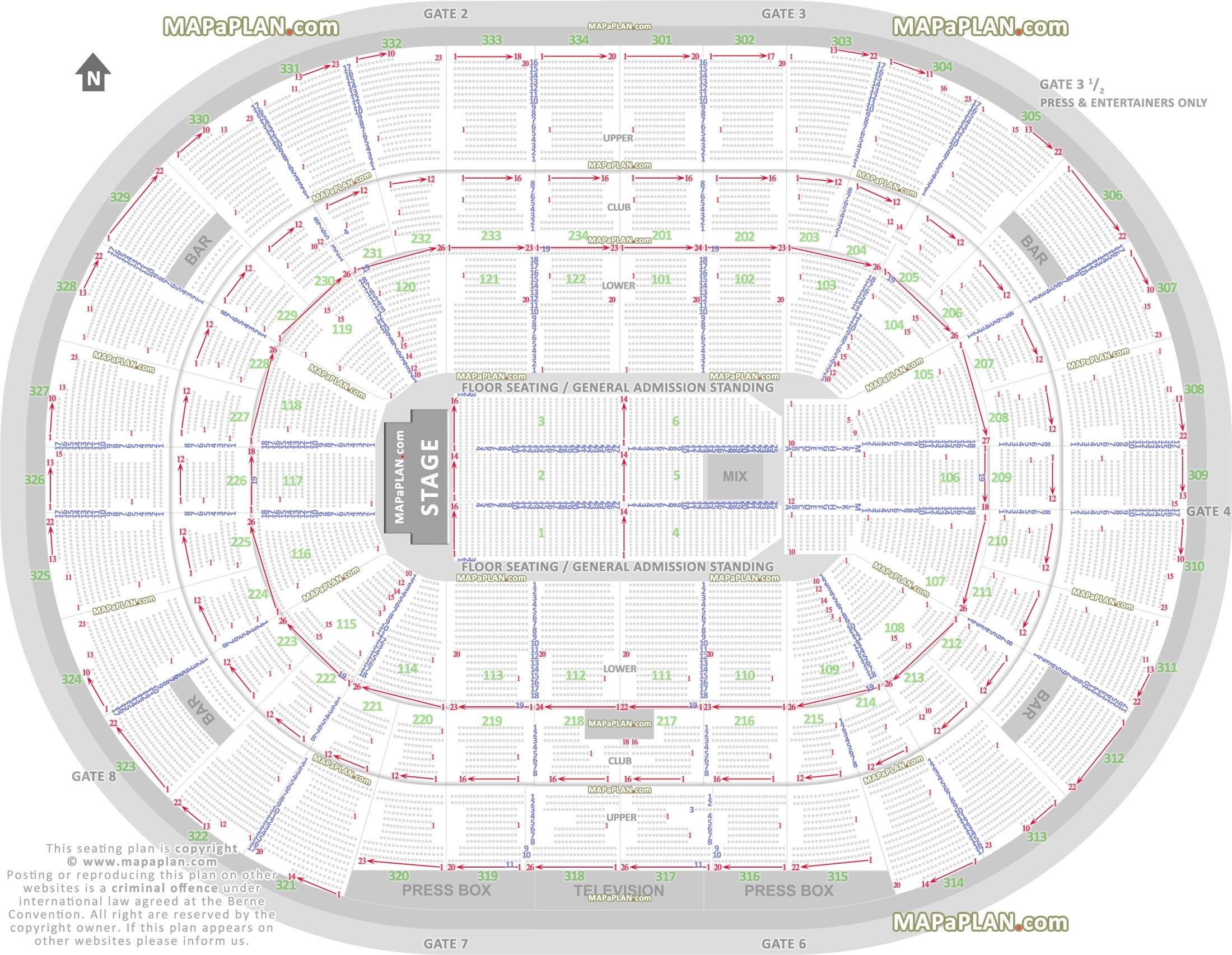 Chicago United Center Seat Numbers Detailed Seating Plan - Mapaplan regarding Verizon Center Seating Chart Pdf