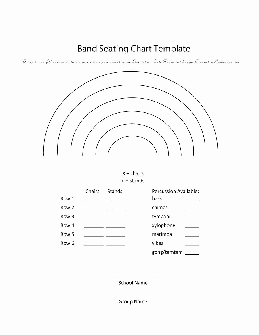 Choir Seating Chart Template Unique Printable Seating Charts throughout Printable Church Seating Chart Template