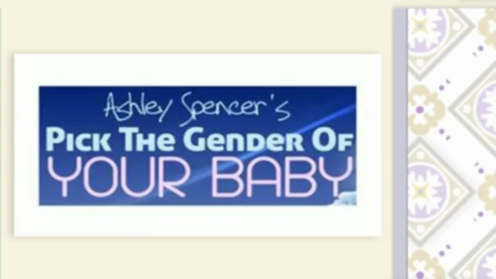 Choosing Your Baby's Gender - Video Dailymotion with regard to How To Choose Your Babys Gender