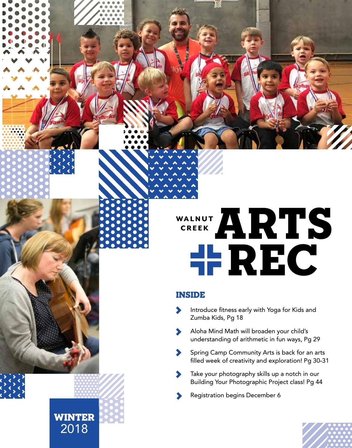 City Of Walnut Creek Guide To Arts + Rec - Winter 2018City Of within Acrylic Wall Displays Fitness Schedules