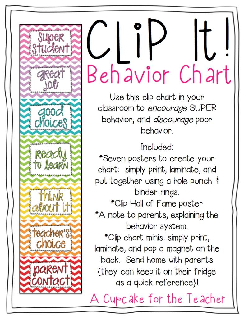 Clip It! Behavior Chart intended for Free Behavior Calendars For Kindergarten