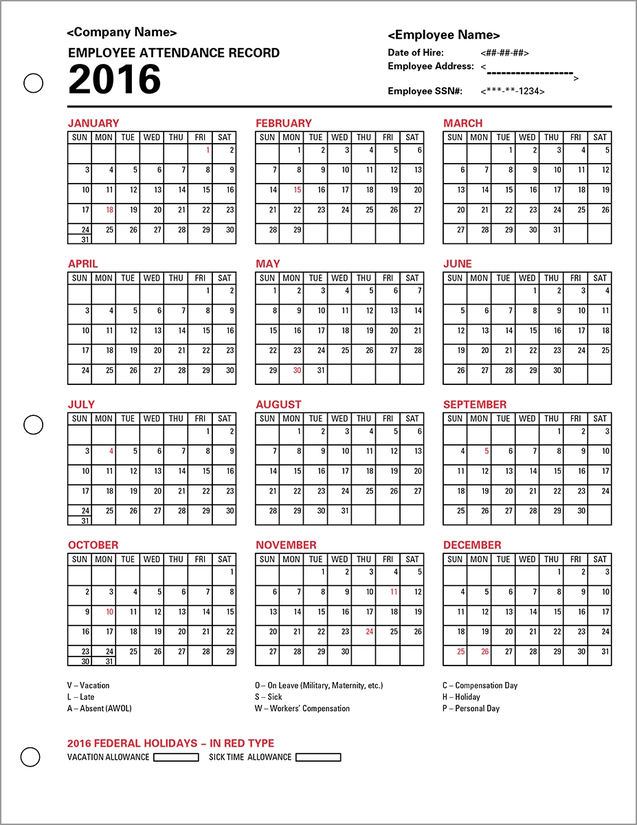 Collection Of 14 Free Schedule Clipart Daily Attendance Bean Clipart within Free Printable Employee Attendance Calendars