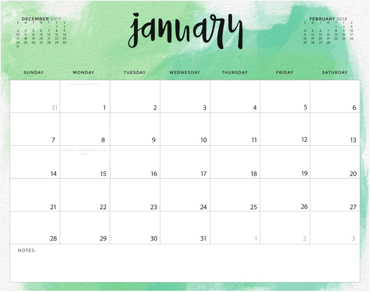 Color Pattern 2018 Monthly Calendar | Max Calendars regarding Monthly Calendars To Print Colorful