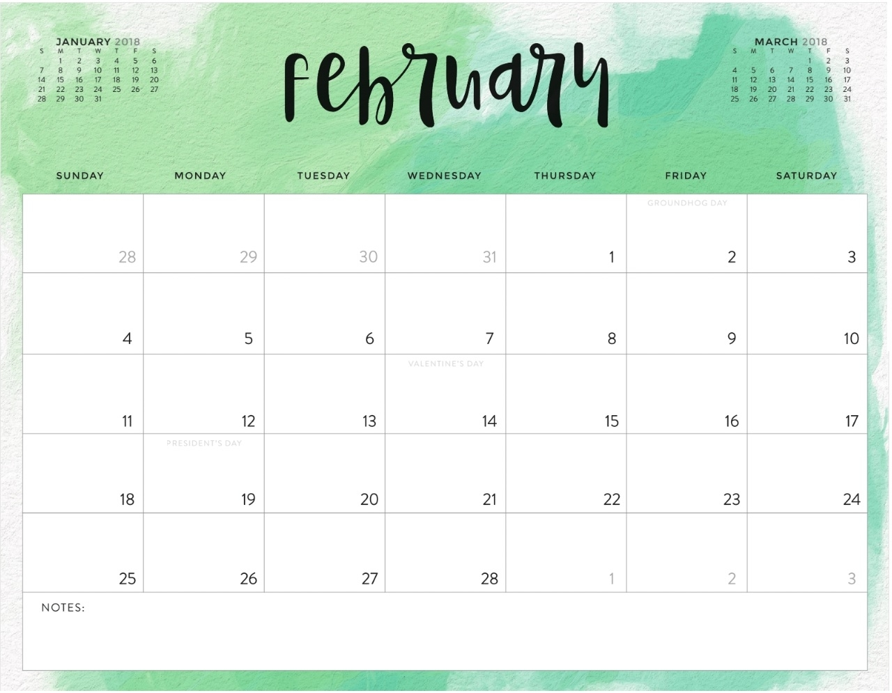 Color Pattern 2018 Monthly Calendar | Max Calendars with regard to Monthly Calendars To Print Colorful