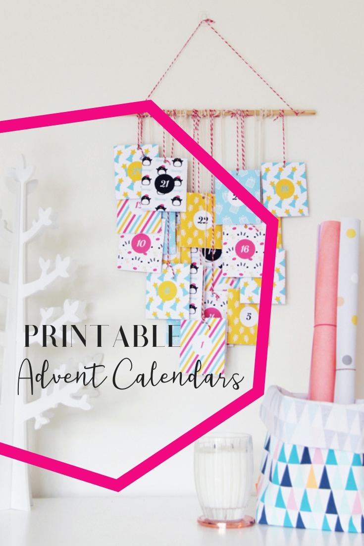 Colorful Printable Advent Calendar • A Subtle Revelry intended for Free Printable Advent Calendars Wallpaper