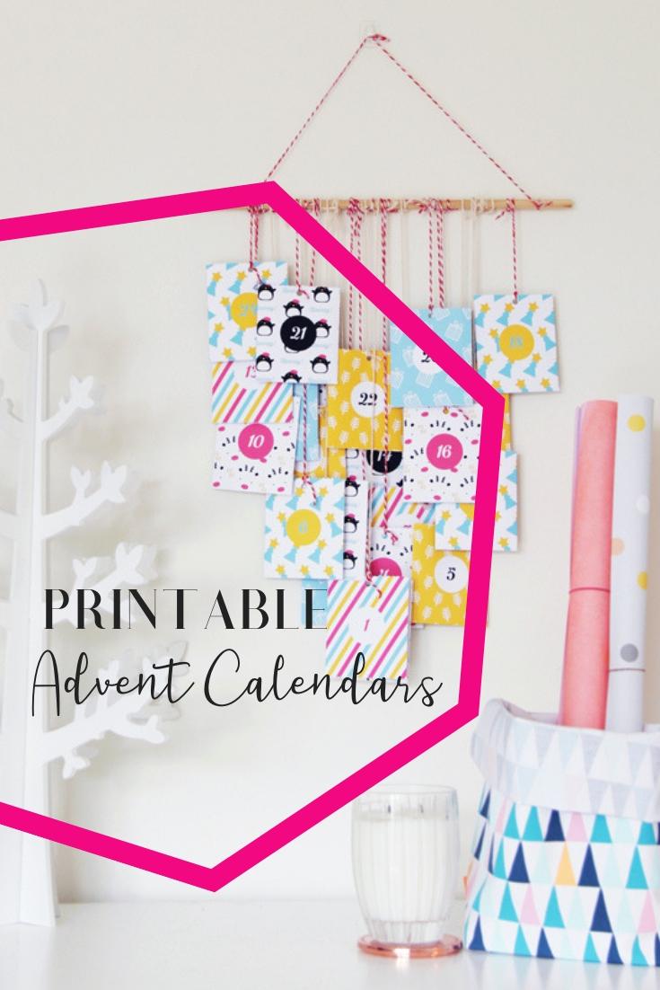 Colorful Printable Advent Calendar • A Subtle Revelry regarding Printable Advent Calendars For All Seasons