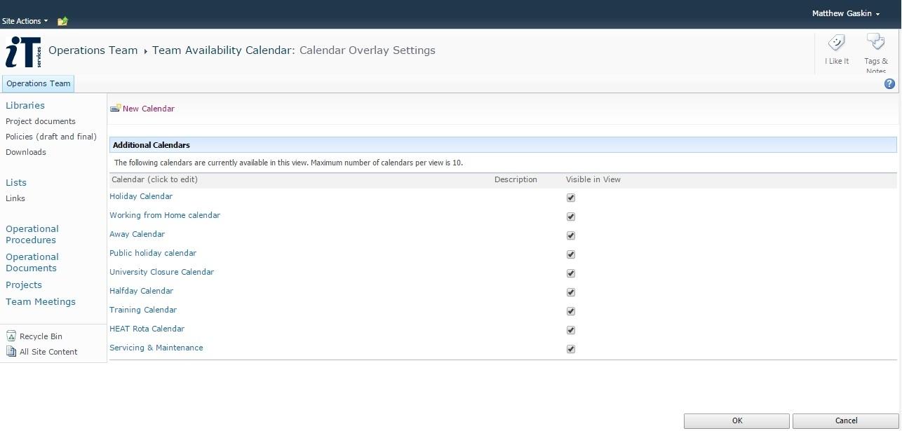 Colour-Coded Sharepoint Calendars | Nexus: News pertaining to Sharepoint 2013 Calendar Items Duplicate When Overlay