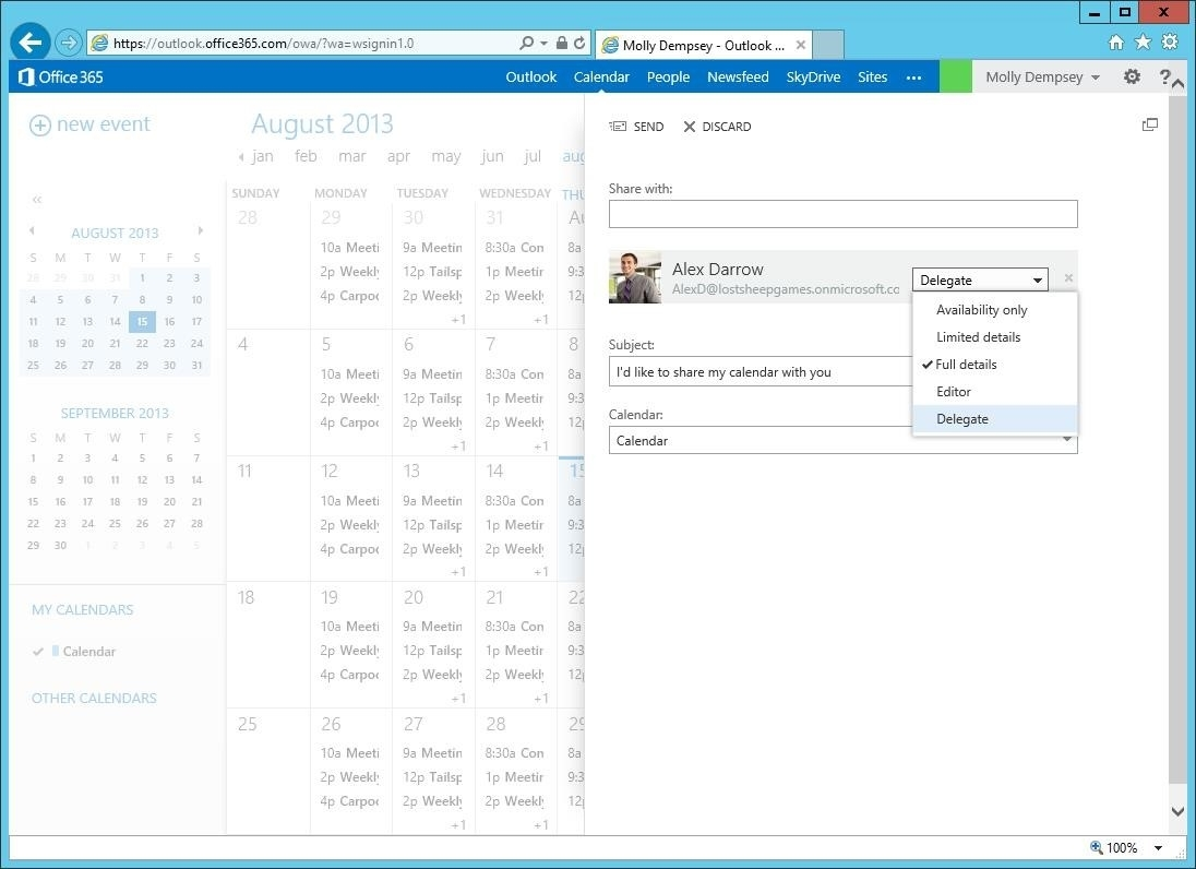 Configuring Delegate Access In Outlook Web App - Microsoft 365 Blog with Outlook 2007 Viewing Inbox In Calendar