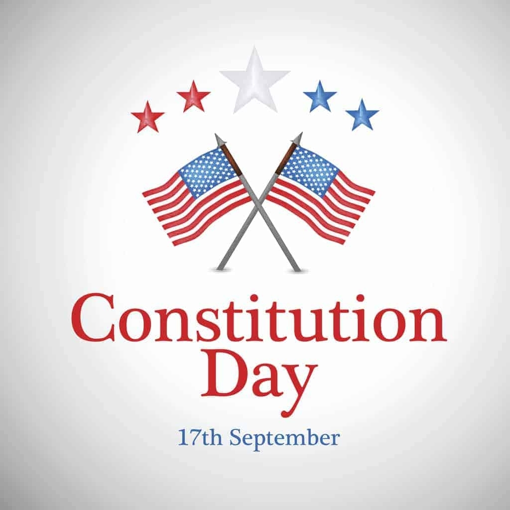 Constitution Day (Citizenship Day) 2019 - National Awareness Days intended for Calendar Days Of The Month Of September 1911