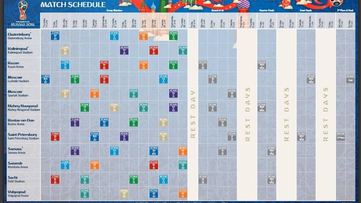 Consulta El Calendario Del Mundial De Rusia 2018 - As in Calendario 2006 Para Imprimir Espaa