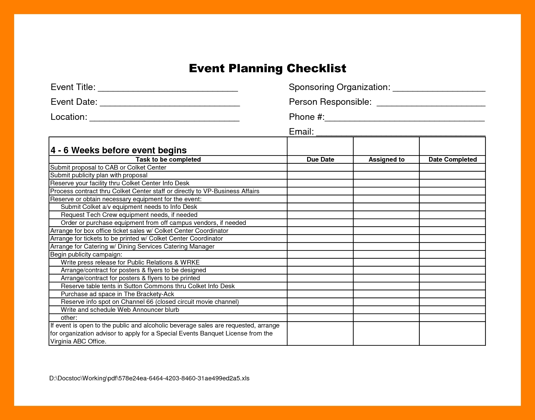 Corporate Event Planning Template Plan Free Planner Templates Anas throughout Corporate Event Planning Checklist Template