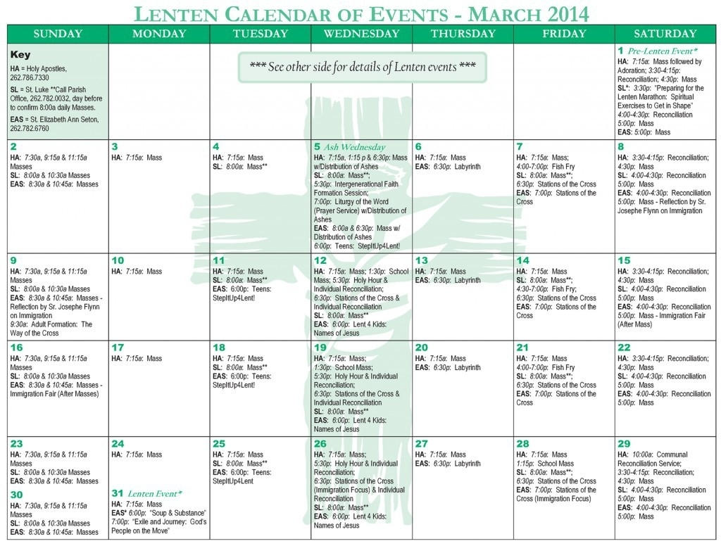 Creating Event Calendars For Busy Schedules | Lpi inside Church Calendar Of Events Template