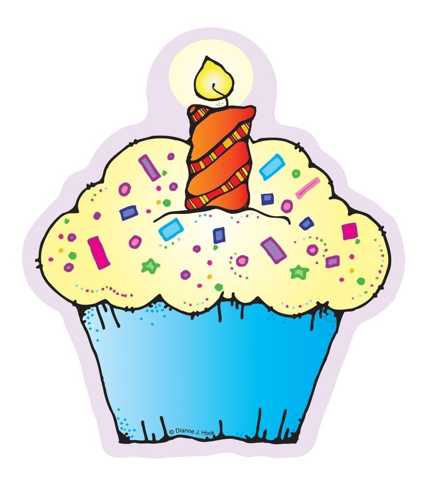 Cupcakes Cut-Outs | Education Fascination | Cupcake Bulletin Boards pertaining to Cup Cake For Classroom Birthday
