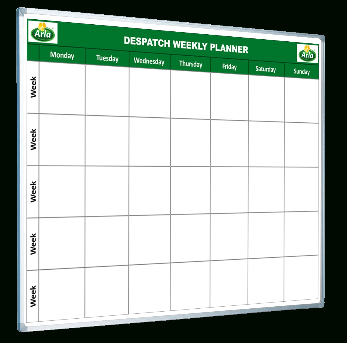 Custom Printed Planner Whiteboards - Magiboards pertaining to 3 Week Task Planner Whiteboard