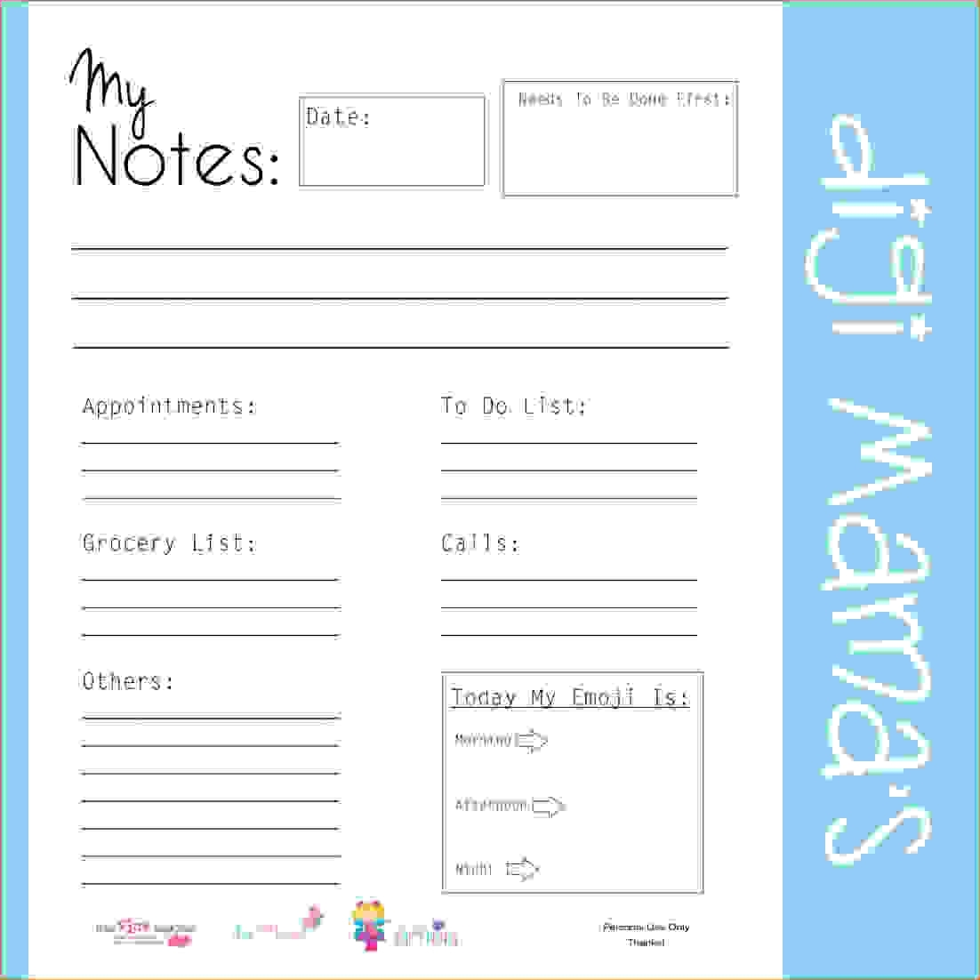 Daily Planner Template Excel Free Weekly Schedule Doc Week Day   Smorad for Free Printable Daily Planner Page Half