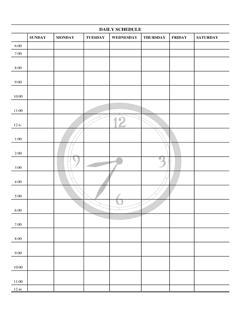 Daily Planner Template Free Templates In Pdf Word Excel Download throughout Monday Through Friday Daily Planner