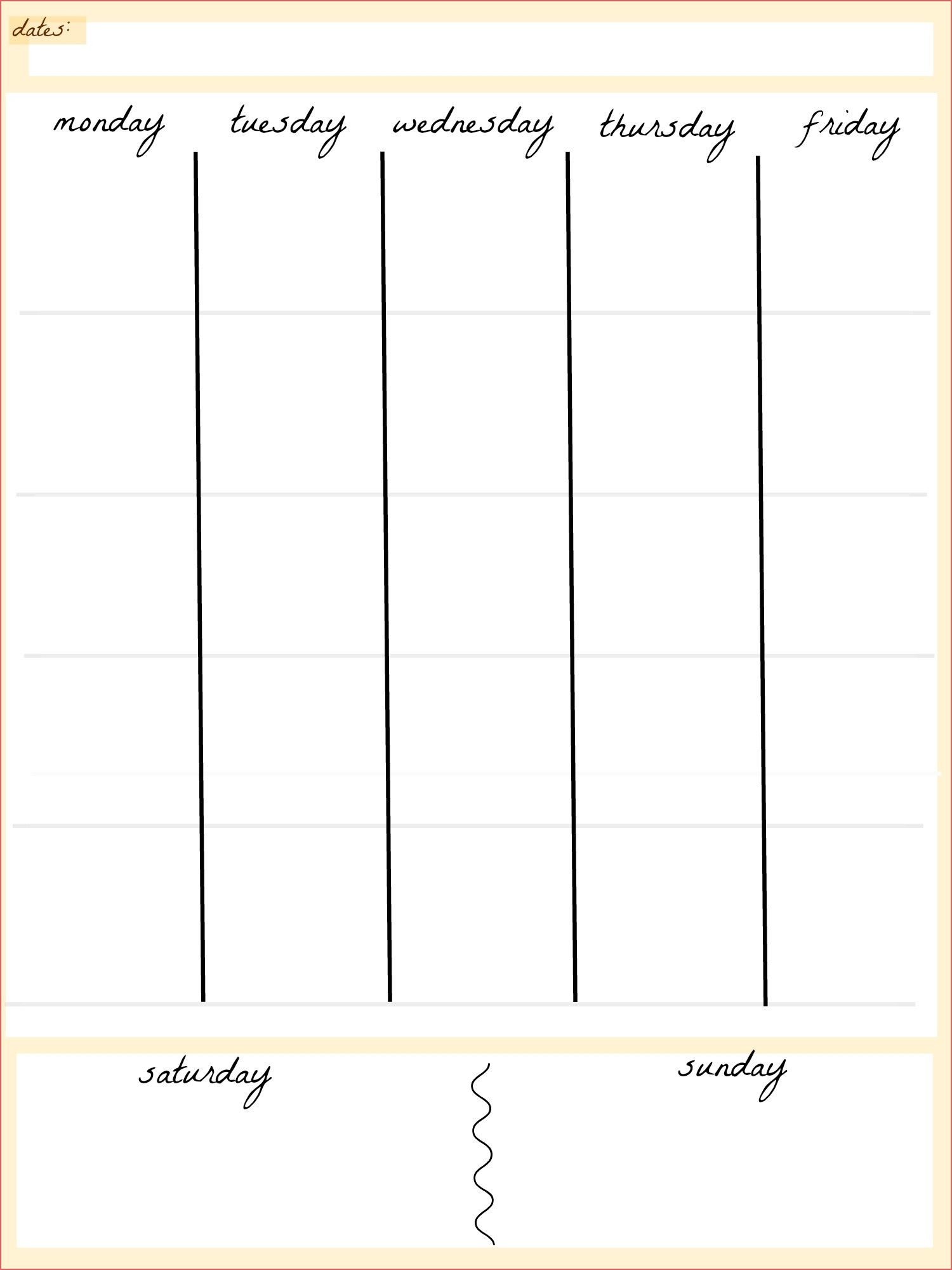 Day Calendar Printable Blank 5 Day Calendar Printable Calendar pertaining to Blank 5 Day Calendar Printable