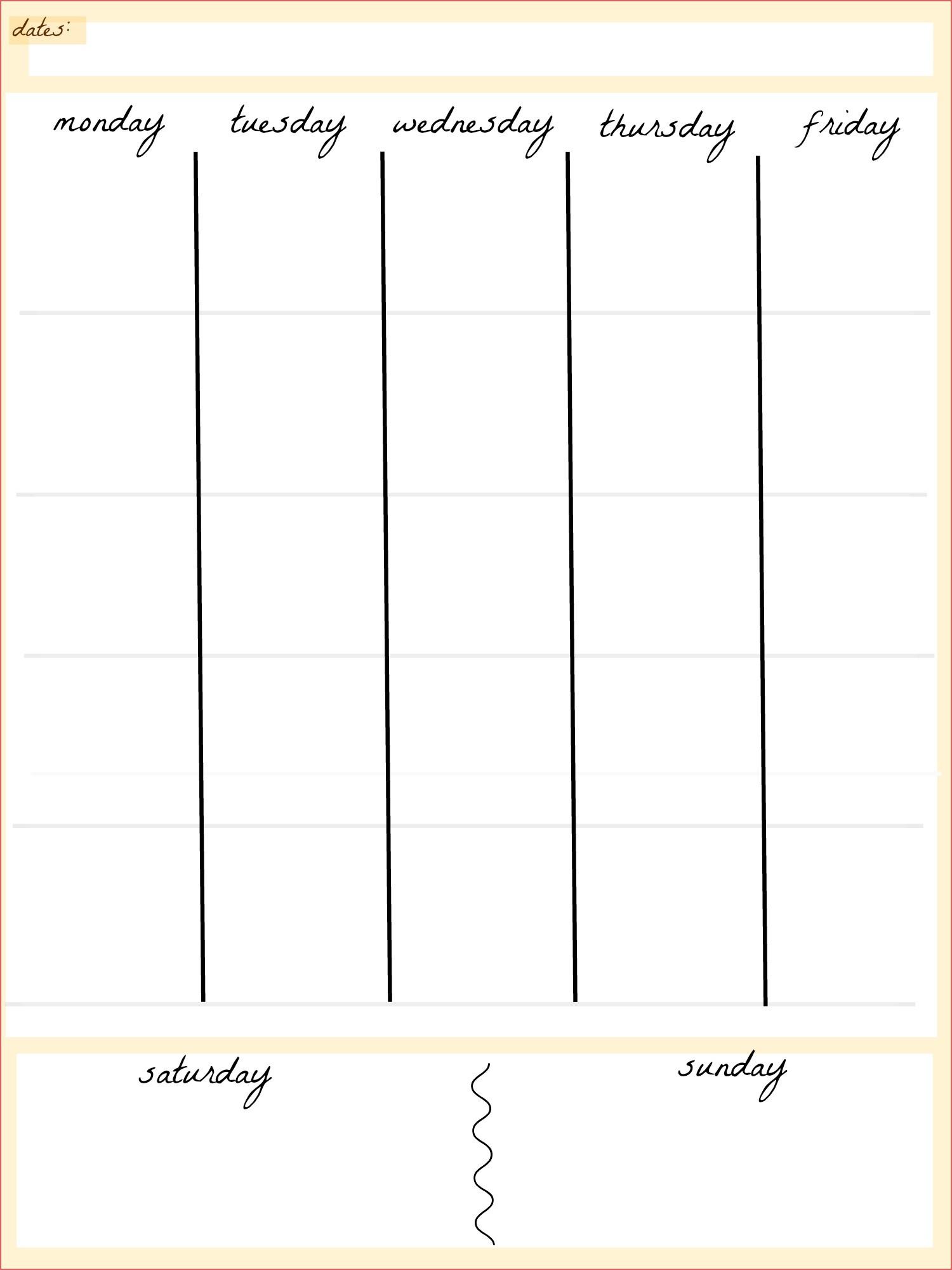 Day Calendar Printable Blank 5 Day Calendar Printable Calendar pertaining to Blank Calendar Printable 5 Day