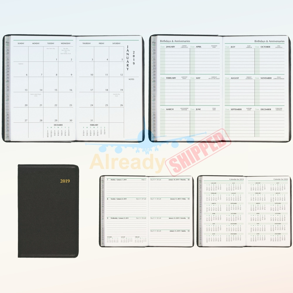 "Day-Timer 2019 Weekly & Monthly Planner, 2-3/4"" X 4-1/2"", Pocket regarding 4 X 4 Monthly Planner"