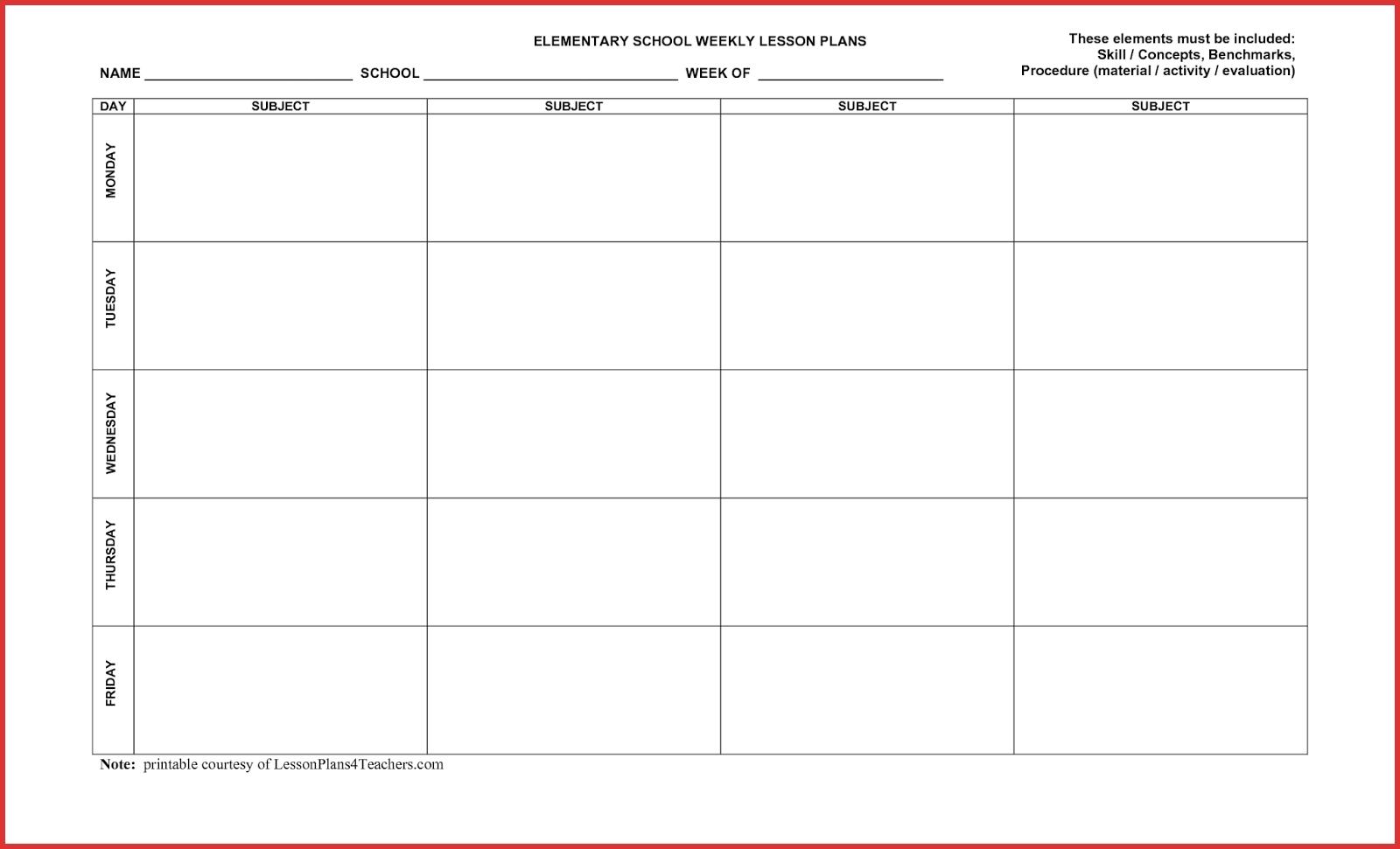 5 Day Week Calendar Printable - Calendar Inspiration Design