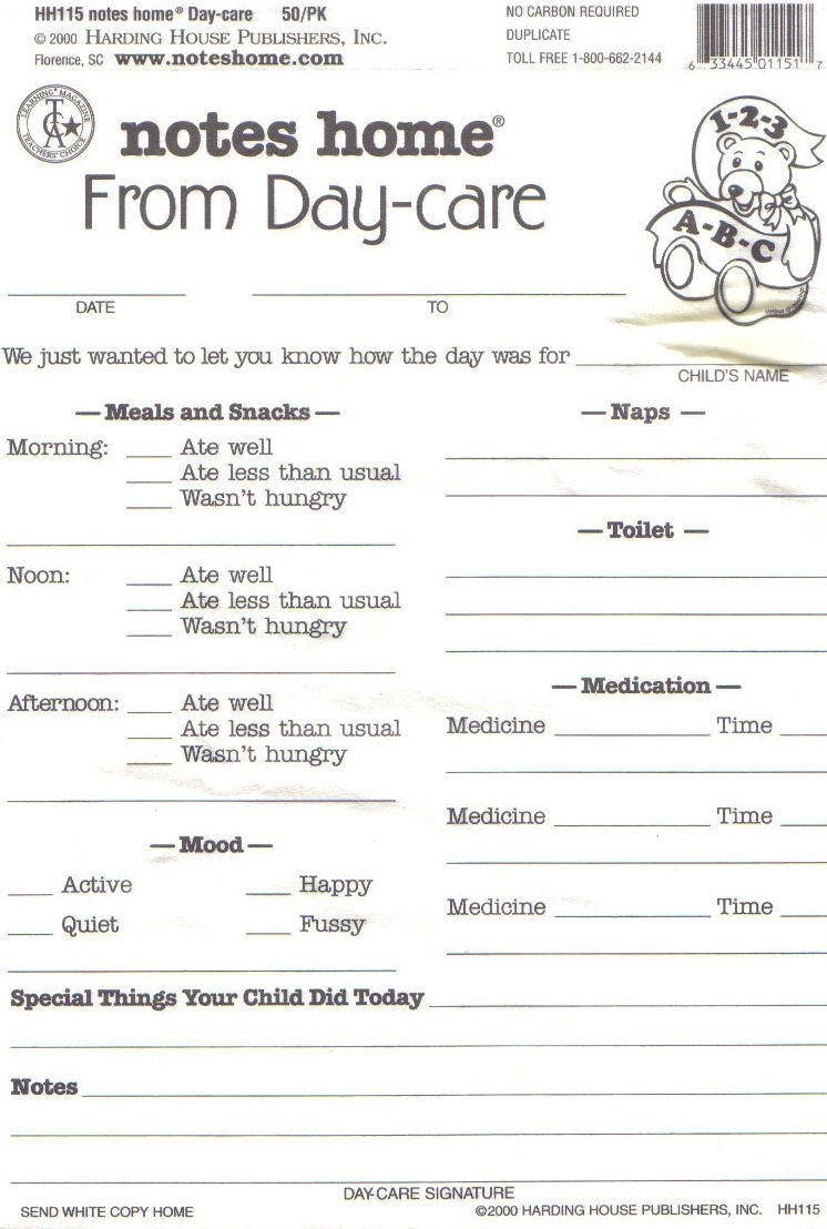 Daycare Daily Report Sheets Infant Reports For Printablei Like regarding Free Printable Template Daily Report For Parents