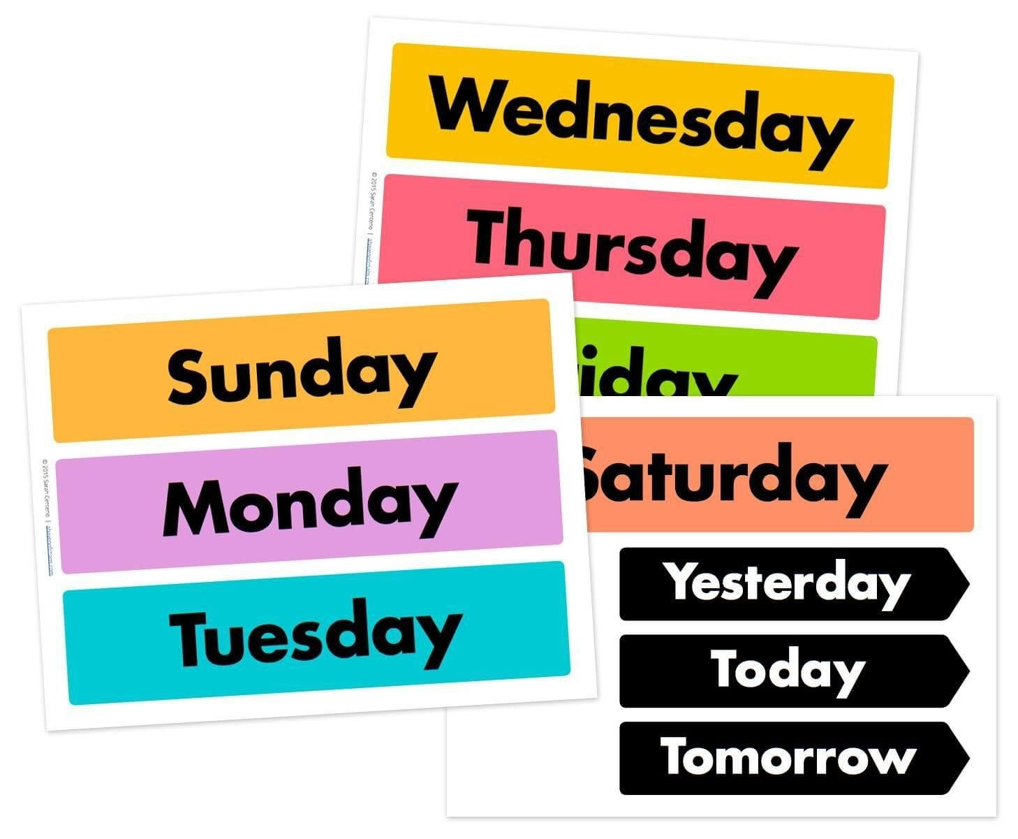 Days Of The Week Printable Free | Free Calendar Cards And Monthly with Days Of The Week Printable Calendar