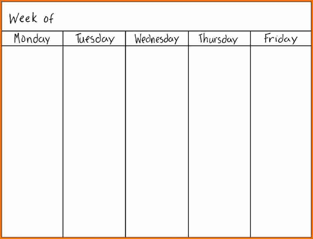 Days Of The Week Template - Maco.palmex.co inside Days Of The Week Calendar Template