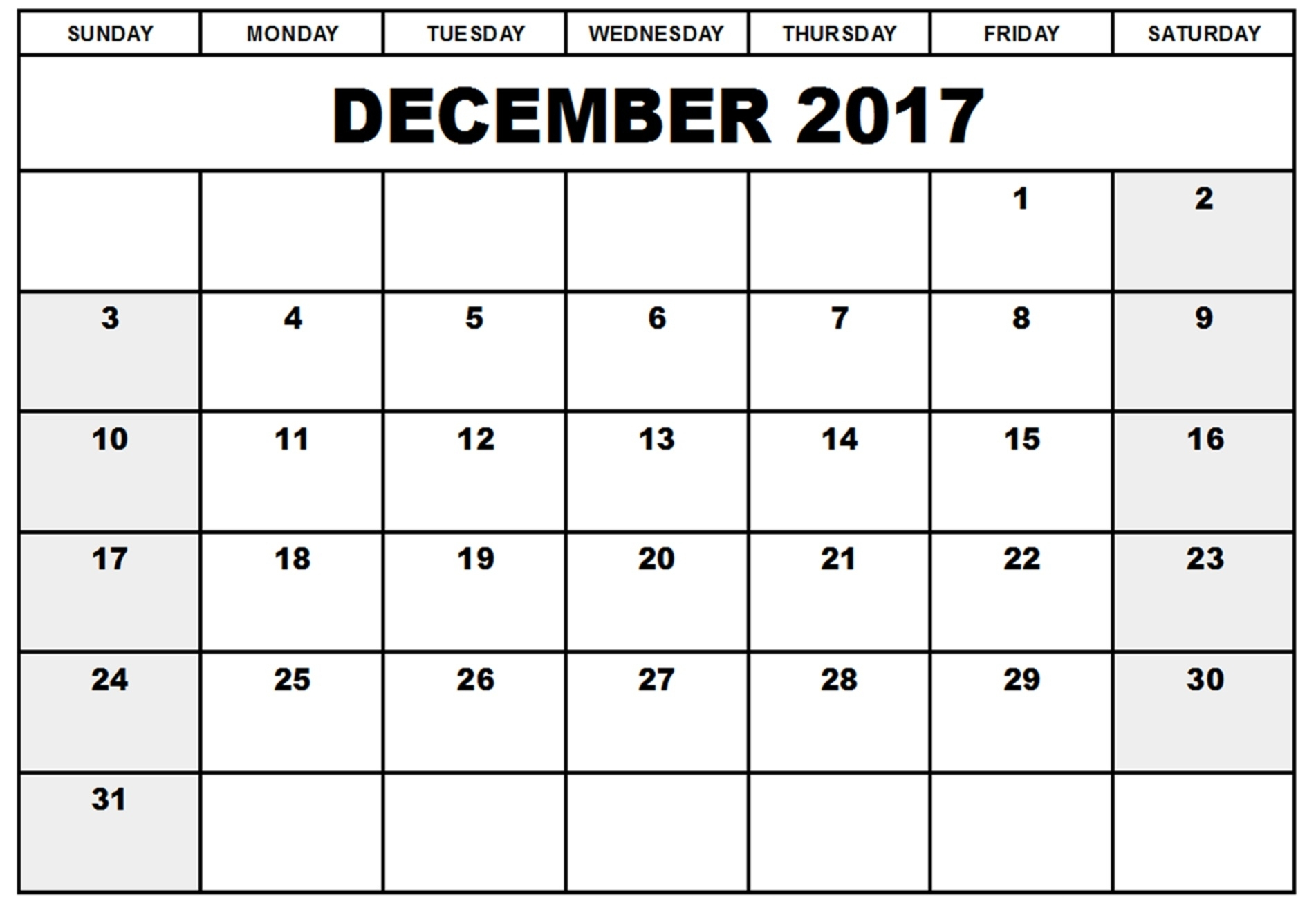 Dec 2017 Printable Calendar | Hauck Mansion intended for Printable Nov Dec 17 Calendar