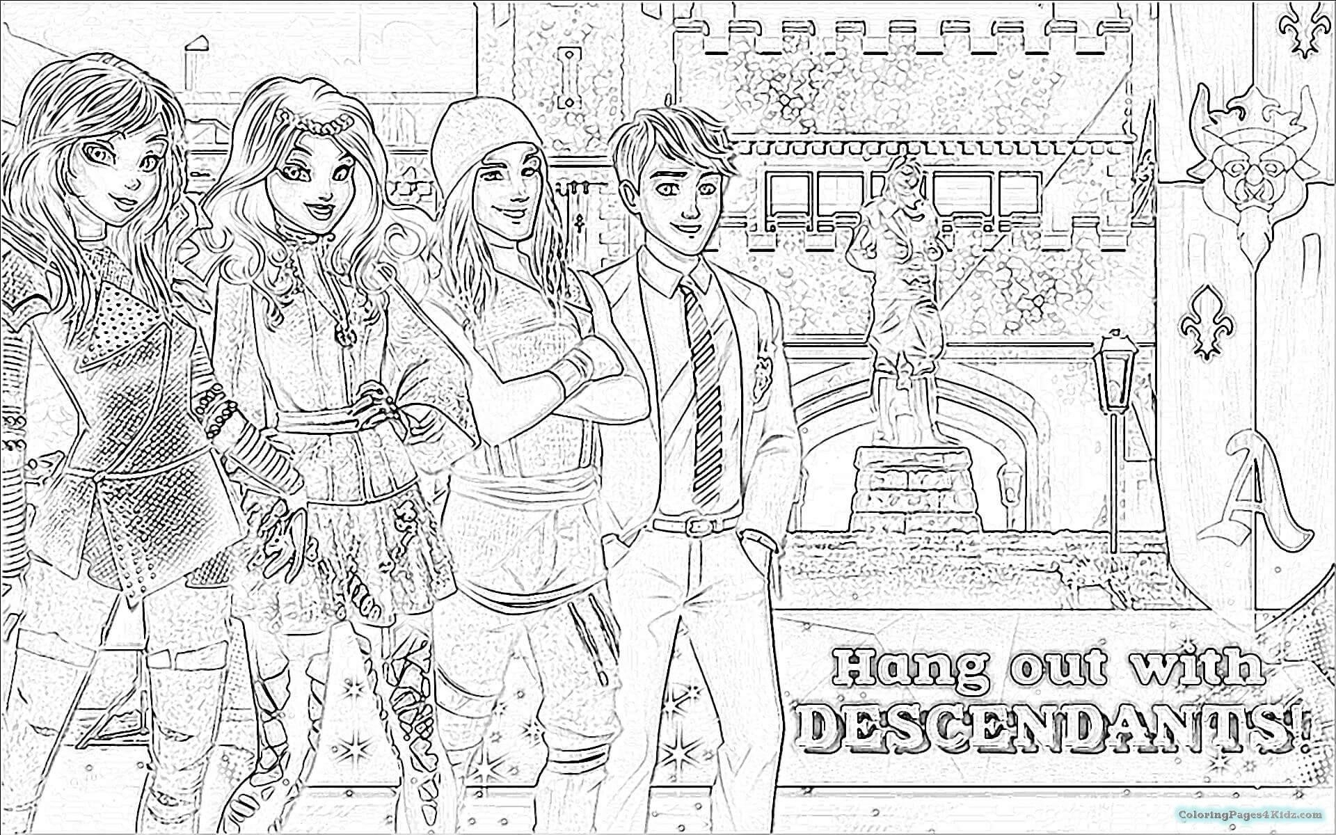 Descendants 2 Coloring Pages | Fun Time intended for Free Printables Of Descesdants 2
