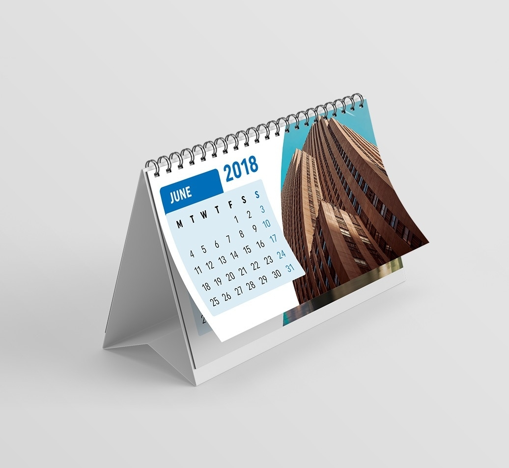 Desk Calendar Printing, A5 Or Dl Size Calendars, Prices From £48.00 intended for Calendar Prints Related To Beauty Of Water