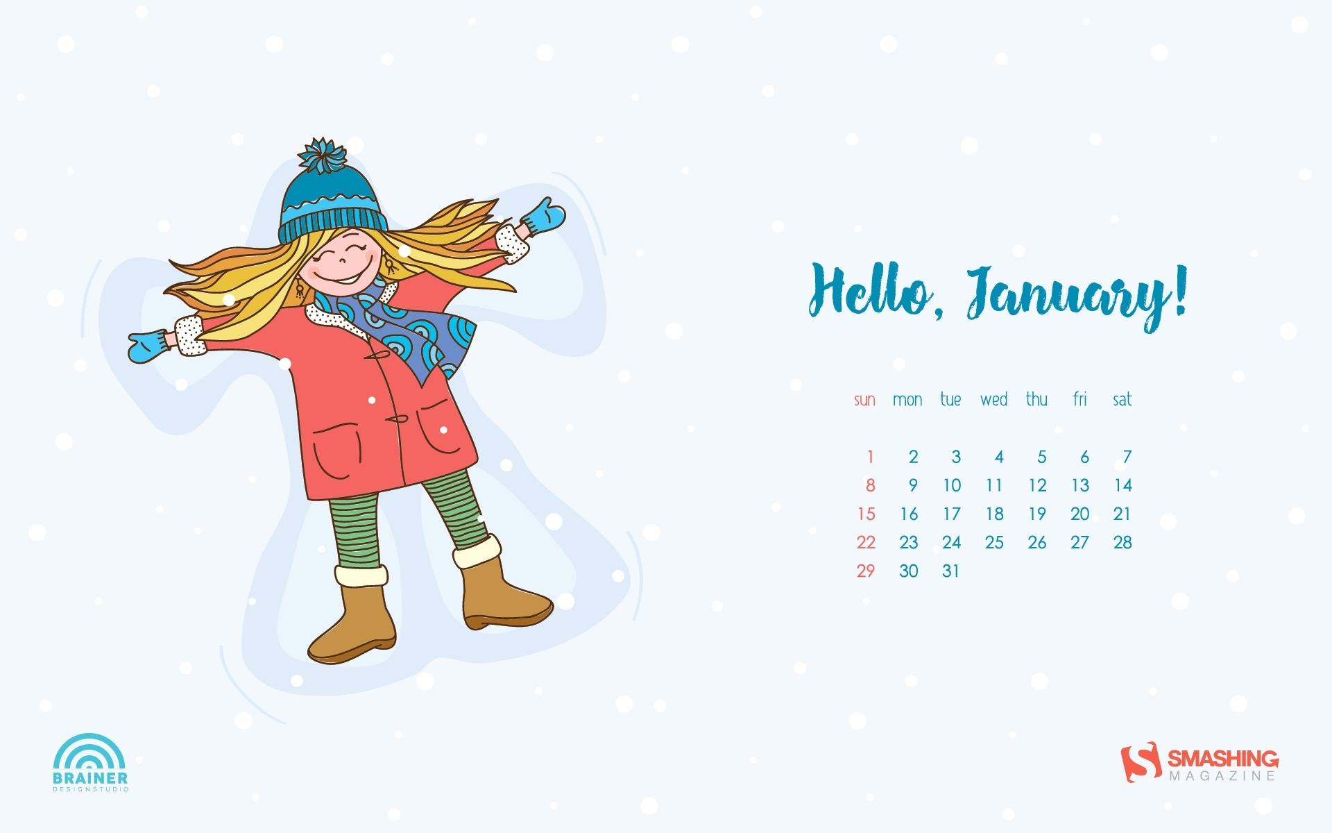 Desktop Wallpaper Calendars: January 2017 — Smashing Magazine for Calendars For January Background Designs